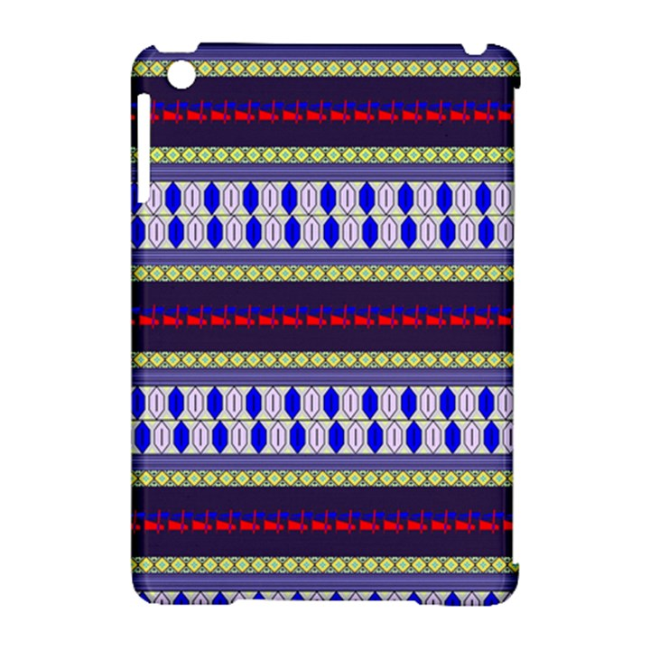 Colorful Retro Geometric Pattern Apple iPad Mini Hardshell Case (Compatible with Smart Cover)