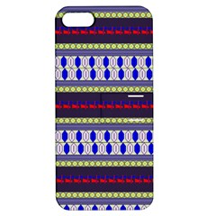 Colorful Retro Geometric Pattern Apple Iphone 5 Hardshell Case With Stand by DanaeStudio