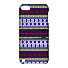 Colorful Retro Geometric Pattern Apple Ipod Touch 5 Hardshell Case With Stand by DanaeStudio