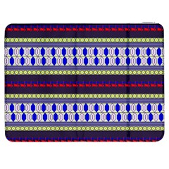 Colorful Retro Geometric Pattern Samsung Galaxy Tab 7  P1000 Flip Case by DanaeStudio
