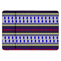 Colorful Retro Geometric Pattern Samsung Galaxy Tab 8 9  P7300 Flip Case by DanaeStudio