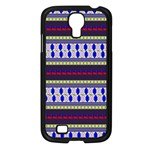 Colorful Retro Geometric Pattern Samsung Galaxy S4 I9500/ I9505 Case (Black) Front