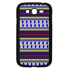 Colorful Retro Geometric Pattern Samsung Galaxy Grand Duos I9082 Case (black)