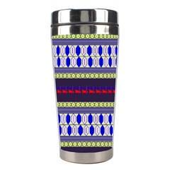 Colorful Retro Geometric Pattern Stainless Steel Travel Tumblers by DanaeStudio