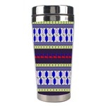 Colorful Retro Geometric Pattern Stainless Steel Travel Tumblers Center