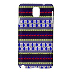 Colorful Retro Geometric Pattern Samsung Galaxy Note 3 N9005 Hardshell Case by DanaeStudio