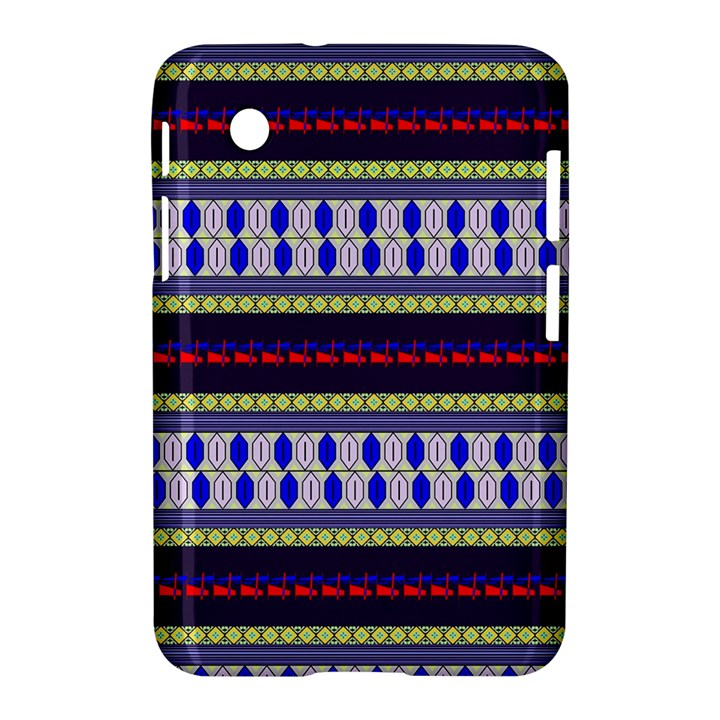 Colorful Retro Geometric Pattern Samsung Galaxy Tab 2 (7 ) P3100 Hardshell Case