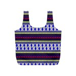 Colorful Retro Geometric Pattern Full Print Recycle Bags (S)  Back