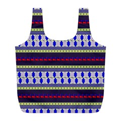 Colorful Retro Geometric Pattern Full Print Recycle Bags (l)  by DanaeStudio