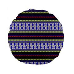 Colorful Retro Geometric Pattern Standard 15  Premium Flano Round Cushions by DanaeStudio