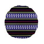 Colorful Retro Geometric Pattern Standard 15  Premium Flano Round Cushions Front