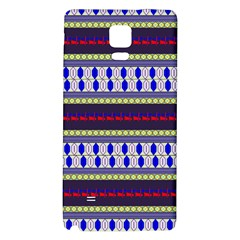 Colorful Retro Geometric Pattern Galaxy Note 4 Back Case by DanaeStudio
