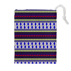 Colorful Retro Geometric Pattern Drawstring Pouches (extra Large)