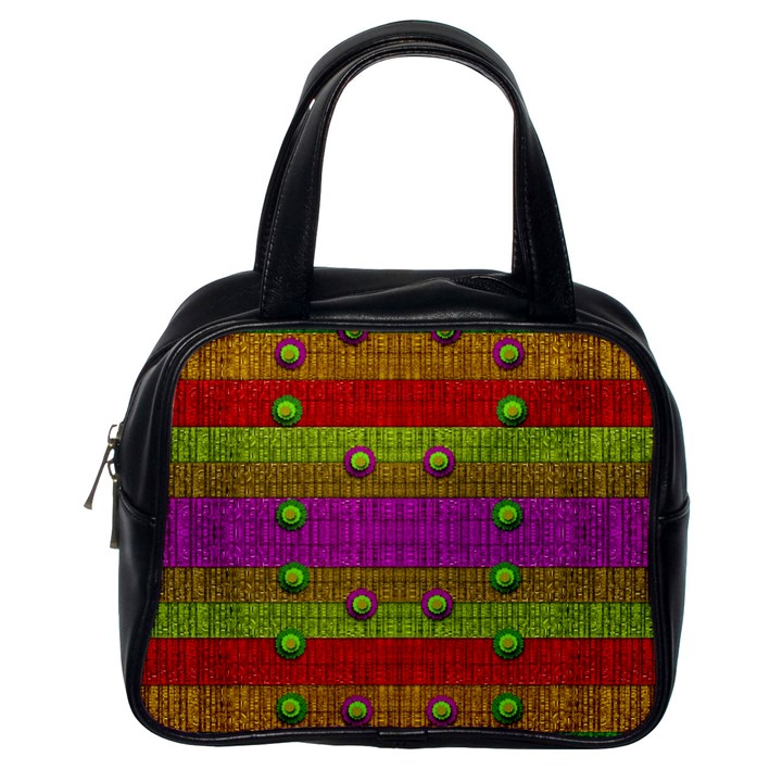 A Wonderful Rainbow And Stars Classic Handbags (One Side)