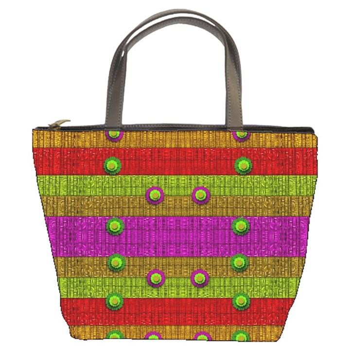 A Wonderful Rainbow And Stars Bucket Bags