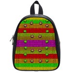 A Wonderful Rainbow And Stars School Bags (Small)  Front