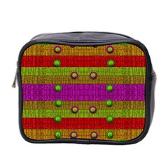 A Wonderful Rainbow And Stars Mini Toiletries Bag 2 Side
