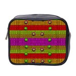 A Wonderful Rainbow And Stars Mini Toiletries Bag 2-Side Front