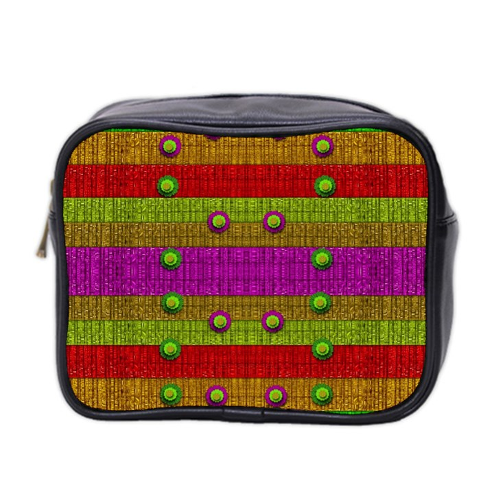 A Wonderful Rainbow And Stars Mini Toiletries Bag 2-Side