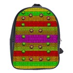 A Wonderful Rainbow And Stars School Bags (XL)  Front