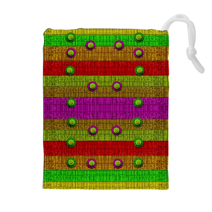 A Wonderful Rainbow And Stars Drawstring Pouches (Extra Large)