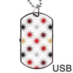 Pearly Pattern Dog Tag USB Flash (One Side) by Zeze