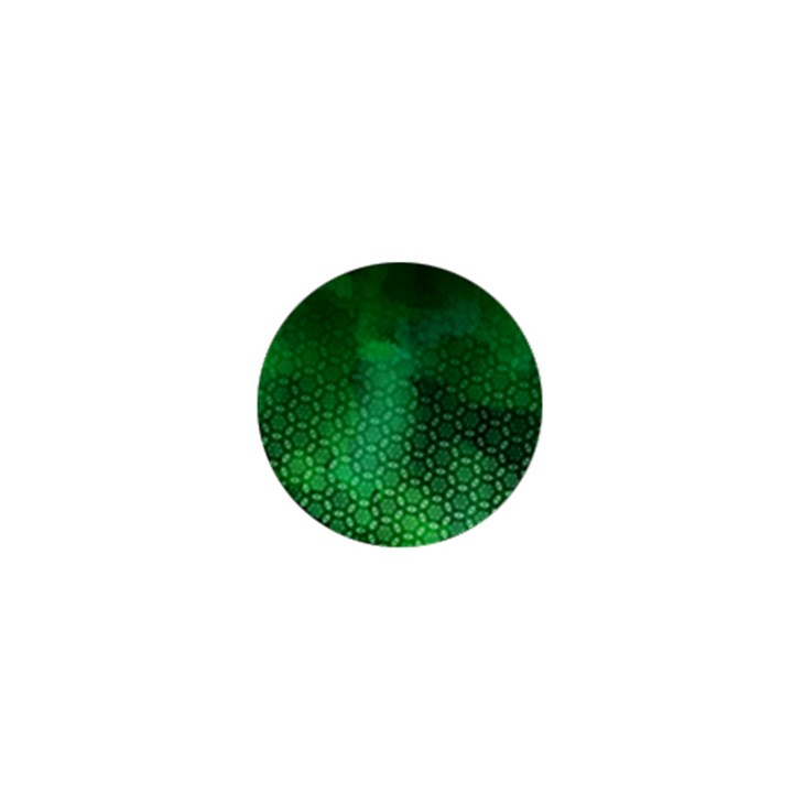 Ombre Green Abstract Forest 1  Mini Buttons