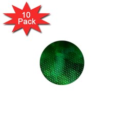 Ombre Green Abstract Forest 1  Mini Buttons (10 Pack)  by DanaeStudio