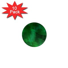 Ombre Green Abstract Forest 1  Mini Magnet (10 Pack)  by DanaeStudio