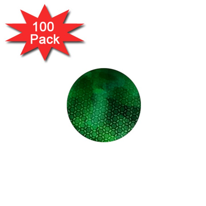 Ombre Green Abstract Forest 1  Mini Magnets (100 pack)