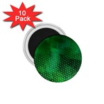 Ombre Green Abstract Forest 1.75  Magnets (10 pack)  Front
