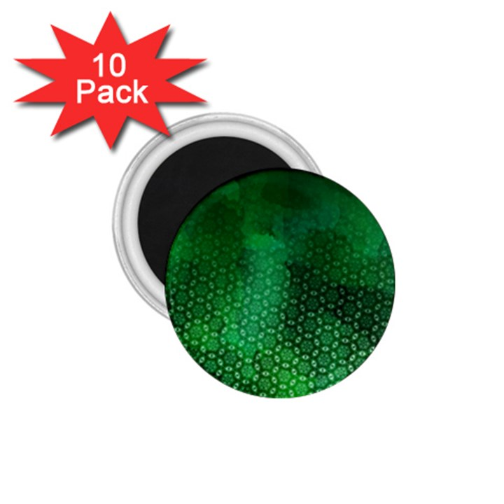 Ombre Green Abstract Forest 1.75  Magnets (10 pack)