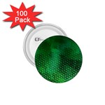 Ombre Green Abstract Forest 1.75  Buttons (100 pack)  Front