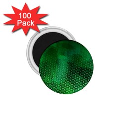 Ombre Green Abstract Forest 1 75  Magnets (100 Pack)  by DanaeStudio