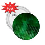 Ombre Green Abstract Forest 2.25  Buttons (10 pack)  Front