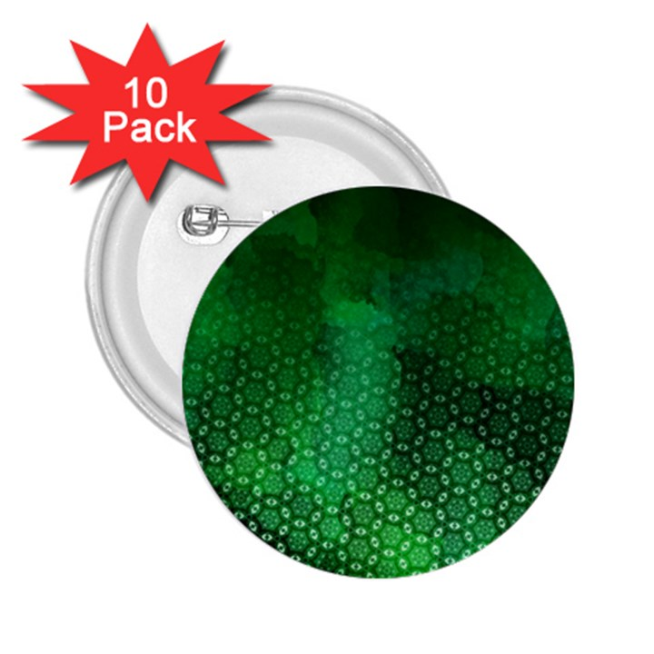 Ombre Green Abstract Forest 2.25  Buttons (10 pack)
