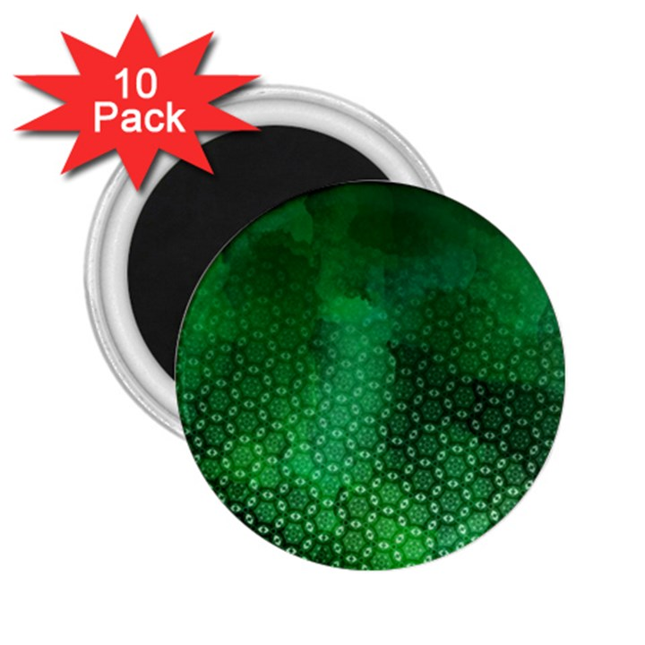 Ombre Green Abstract Forest 2.25  Magnets (10 pack)