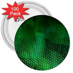 Ombre Green Abstract Forest 3  Buttons (100 pack)  Front