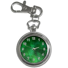 Ombre Green Abstract Forest Key Chain Watches