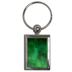 Ombre Green Abstract Forest Key Chains (rectangle)  by DanaeStudio