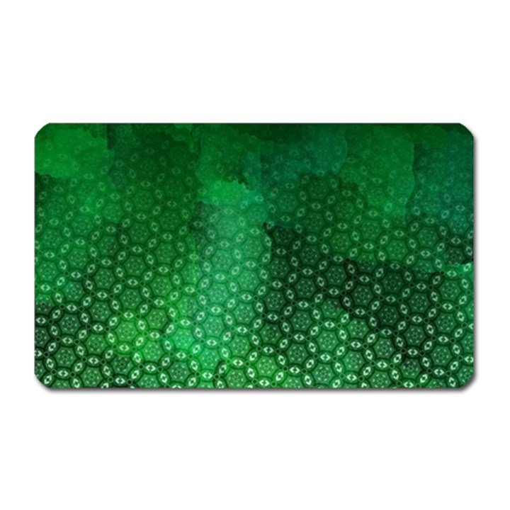 Ombre Green Abstract Forest Magnet (Rectangular)