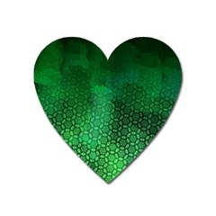 Ombre Green Abstract Forest Heart Magnet by DanaeStudio