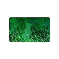 Ombre Green Abstract Forest Magnet (name Card) by DanaeStudio