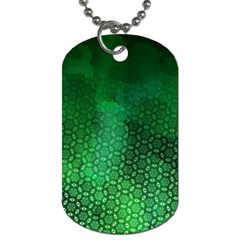 Ombre Green Abstract Forest Dog Tag (two Sides)