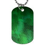 Ombre Green Abstract Forest Dog Tag (Two Sides) Front