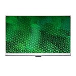 Ombre Green Abstract Forest Business Card Holders Front