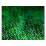 Ombre Green Abstract Forest Rectangular Jigsaw Puzzl Front