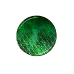 Ombre Green Abstract Forest Hat Clip Ball Marker (10 Pack) by DanaeStudio