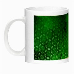 Ombre Green Abstract Forest Night Luminous Mugs by DanaeStudio