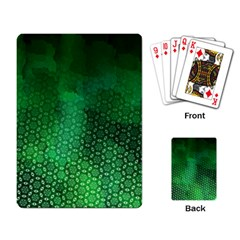 Ombre Green Abstract Forest Playing Card by DanaeStudio
